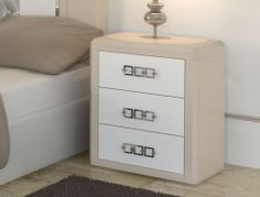 Bedside tables with 3 drawers. Mod. MADEIRA M2010 COMBI