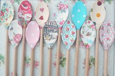 Vintage Shabby Chic Decorated Wooden Spoon Cath Kidston Emma Bridgewater Kitchen in Home, Furniture & DIY, Home Decor, Other Home Decor | eBay