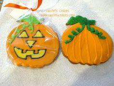 Pumpkin cookiess for Halloween #halloween #pumpkin #cookies