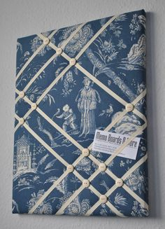 Oriental themed French memo board / fabric wall by MemoBoardsNMore, $39.95