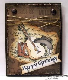 Country Music Card Good Ideas For Michaels Scrapbook