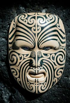 mascara Maori Wood Carving, Auckland, New Zealand -- TRAVEL by Andrew Shaylor, via Behance mascara Arte Tribal, Tribal Art, Samoan Tribal, Filipino Tribal, Mascara Maori, African Masks, African Art, Tiki Maske, Ta Moko Tattoo