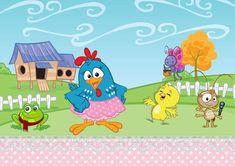 GALINHA PINTADINHA 02 A4 - PATRICIA PAPEL ARROZ Candy Colors, Alice, Banner, Kids Rugs, Scrapbook, Birthday, Party, Erika, Cricut