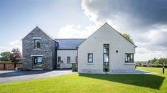 Nice 39 Impressive House Type Design Ideas For # House Designs Ireland, Latest House Designs, House Outside Design, Modern Farmhouse Exterior, Farmhouse Renovation, Farmhouse Kitchens, Farmhouse Ideas, Modern Bungalow House, Ireland Homes