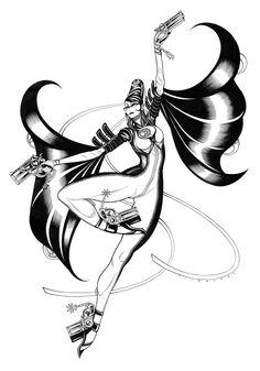 Bayonetta commission by Tradd Moore Bayonetta, Tradd Moore, Platinum Games, Fun Comics, Super Smash Bros, Comic Art, Witch, Sketches, Fan Art