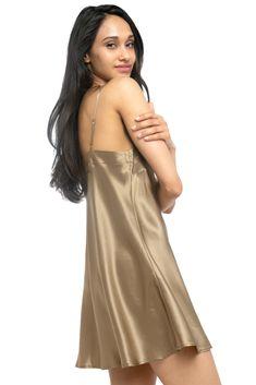 MYK Silk - Soft Silk Chemise for Women - Summer Essential Sleepwear Satin Nightie, Silk Chemise, Satin Lingerie, Silk Sleepwear, Sleepwear Women, Lingerie Sleepwear, Nightwear, Nightgowns For Women, Silk Slip