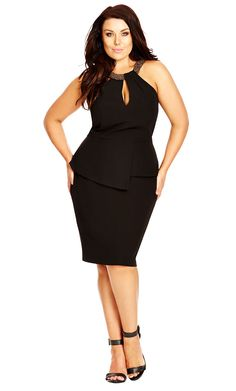 City Chic Sexy Rosa Dress - little black dress