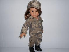 Army desert camouflage military uniform by DeColoresDollFashion, $28.00