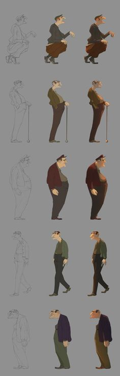 Les Boulistes - Vivien Bertin Really want to learn how to photoshop like this. Character Design Animation, Character Design References, Character Drawing, Character Illustration, Character Concept, Concept Art, Norman Rockwell, Character Design Inspiration, Drawing Reference