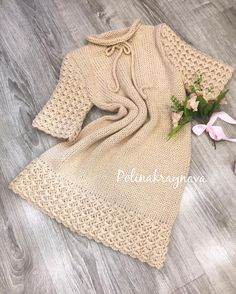 #crochet #fashionstyle #knitting #knittwear #polinakraynova #dress #crochetdress #вязаноеплатье #платье #кашемир #альпака #trends Baby Hat Knitting Patterns Free, Baby Knitting, Vestido Smart Casual, Tricot Baby, Angora, Knit Fashion, Crochet Clothes, Dressmaking, Knit Dress