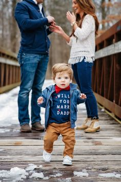 Too Cute! This little guy just helped his dad propose and I can't stop smiling at these photos!