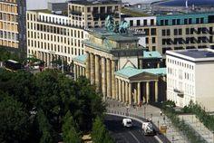 The Brandenburg Gates aerial photo