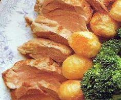 Solomillo de cerdo con salsa de manzana y mostaza