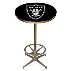 The Oakland Raiders Pub Table is a fantastic addition to any Raiders Fan cave or Game Room.