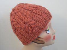 Free Knitting Pattern - Hats: Rib & Cable Hat