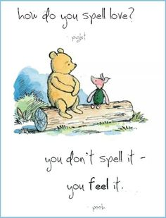 ♥ The world according to Pooh.