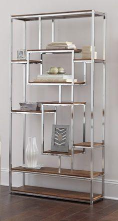 Etagere Bookcase, Bookcase Shelves, Shelving, Wooden Shelves, Glass Shelves, Steel Furniture, Home Decor Furniture, Grey Furniture, Furniture Design