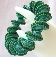 Pattern Only  Spiral Peyote Pattern for My Going by beadsforever, $5.00