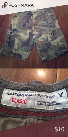 AE Men's Camo Shorts Camo shorts, classic fit American Eagle Outfitters Shorts Cargo