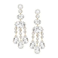 Ivanka Trump earrings in 18k rose gold with rock crystal