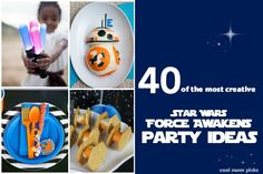 More than 40 cool #StarWars The Force Awakens birthday party ideas: invitations, decor, treats, and activities. Now THAT'S how the force works!