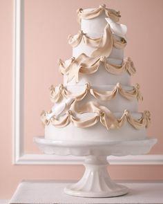 Gum Paste Ribbon Wedding Cake