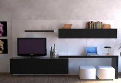 Rack Modulo LCD Yukon- Factory Muebles - fabrica de muebles de melamina, placards, racks lcd, muebles a medida