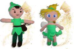 Peter Pan e Trilly_bambole amigurumi di Lallila su Etsy