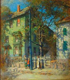 The Athenaeum - CORNOYER, Paul American Impressionist (1864-1923)_Gloucester - circa 1900