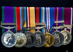 Displaying military medals in a shadow box.