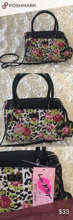Betsey Johnson floral Crossbody New with tags. Betsey Johnson floral Crossbody. See pics for measurements! No trades! Offers welcome!                               DRE147 Betsey Johnson Bags Crossbody Bags