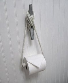 Seaside Inspired - Beach Decor: Pin of the Week: Nautical Style Toilet Paper Holder