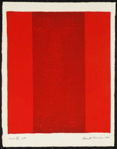 Barnett Newman (1905-1970) was an American artist who is seen as one of the major figures in abstract expressionism and one of the foremost of the color field painters