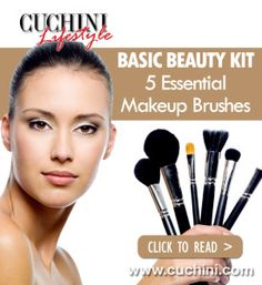 Makeup for Beginners: 5 Essential Brushes. http://blog.cuchini.com/2016/05/11/makeup-for-beginners-5-essential-brushes/