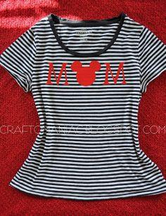 Craft-O-Maniac (awesome blog) Disney Mom shirt!