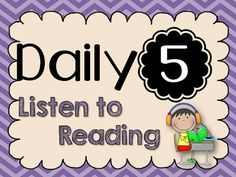 Tori's Teacher Tips: Daily 5~ Listening to Reading this blog has a great website and app for listening to reading that I need to remember to use!