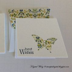 Petite Pairs, Elegant Butterfly Punch, Stampin' Up Card