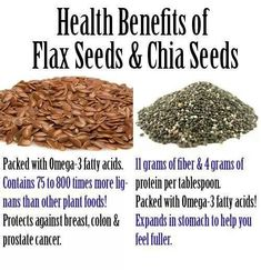 Flax and Chia seeds.benefits Flax and Chia seeds. Healthy Choices, Healthy Tips, Healthy Eating, Healthy Treats, Healthy Lunches, Healthy Food, Health And Nutrition, Health And Wellness, Health Fitness