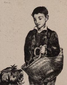 Poster Print-The Urchin. Creator: Edouard Manet (French, poster sized print mm) made in the UK Fine Art Prints, Framed Prints, Canvas Prints, Edouard Manet, Paris, Art Reproductions, Photographic Prints, Poster Size Prints