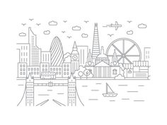 London, England - Client City Series Illustration
