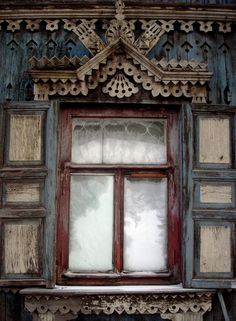 Krasnoyarsk. #windows #Wooden_window_frame #russian_window