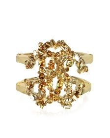 Signature Golden Bangle w/Crystals  ROBERTO CAVALLI