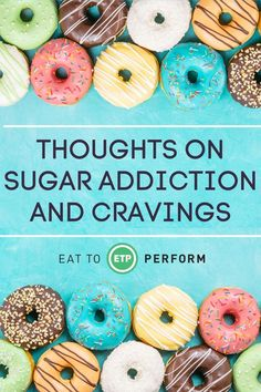 """I was talking to a family member who recently said, """"I went off of sugar for a week and I feel great – I just think I am an addict."""" Eat To Perform, Stop Overeating, Healthy Mind And Body, Motivational Pictures, Holistic Nutrition, Cravings, Addiction, Finding Yourself, Lose Weight"""