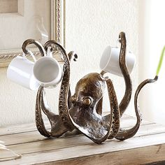 Octopus Tea Cup Or Jewlery Holder