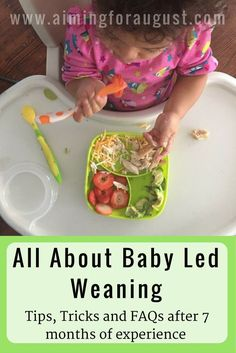 Tips, tricks, and frequently asked questions about baby led weaning.
