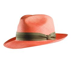 Classic Fedora in Coral.