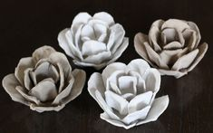 bliss bloom {blog} ~ a craft and lifestyle journal: Upcycle // Papier Mache Roses from an Egg Carton