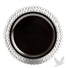 """Love these chargers!   13"""" Round Crystal & Metal Charger Plate (BULK 4 pieces per case = $30.25 ea)"""