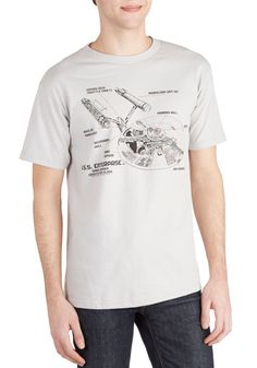 Saucer Section Men's Tee, #ModCloth- Party attire for the fellas