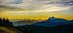 Mount Shuksan Sunrise 2 An image of a sunrise behind Mount Shuksan seen from Skyline Divide in Washington State. Skyline Divide Washington State hike hiking wilderness outside PNW outdoors pacific northwest explore mountain view views quest live authentic outbound sunrise Mount Shuksan
